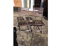 4 wooden folding garden chairs
