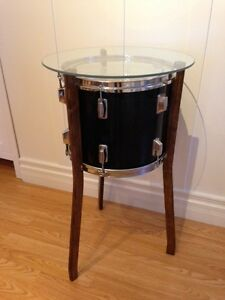 Perfect Musician Gift!! Custom Drum Table--Glass Top!