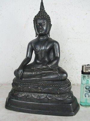 alter Buddha 925 Silber original Rarität Thailand ~1925 Museum Qualität  2,4kg