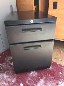 Metal or laminate 2 & 3 drawer pedestal file cabinets