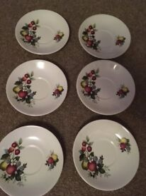 Set of 6 Porcelain Plates