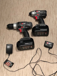 Porter Cable Drill & Impact driver set
