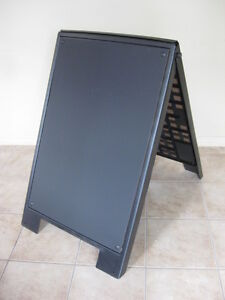 "Sidewalk Sign, A-frame Plastic Sign, 24""x36"", Chalkboard"