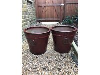 Two large plant pots - Collection only