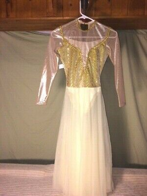 Gold & Pale Yellow Youth & Adult Ballet/Lyrical Dance Costume