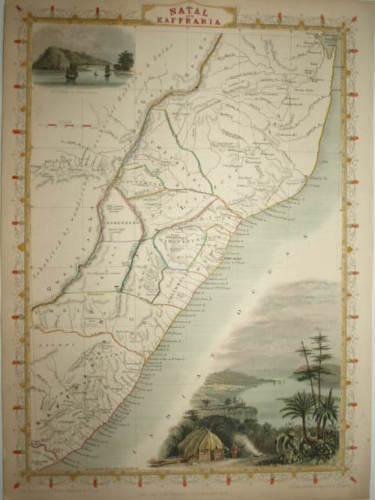 DURBAN COAST, NATAL BY JOHN TALLIS CIRCA 1850.