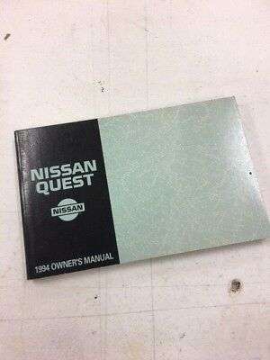 1994 Nissan Quest Van Factory Service Owners Manual Book