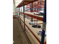 JOB LOT 10 bays RAPID 1 industrial long span shelving 2m high. ( storage , pallet racking )