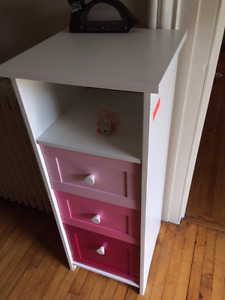 PINK KIDS SMALL WOODEN CHEST OF DRAWERS