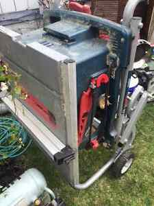 """BOSCH 10"""" PORTABLE TABLE SAW W/TS3000 GRAVITY RISE STAND"""