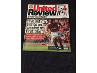 Job lot of Manchester United magazines - Inside United / United Review Match day programmes