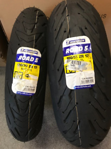 Best Price anywhere on BRAND NEW MICHELIN ROAD 5 TIRE SET $425