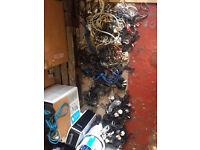 Studio clearout - job lot of mains leads, audio leads, XLR, USB, etc