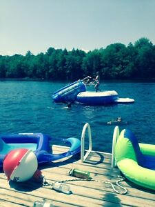 Water slide and Trampoline