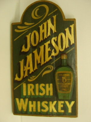 JAMESON WHISKEY WOODEN PUB SIGN VINTAGE BAR GIFT