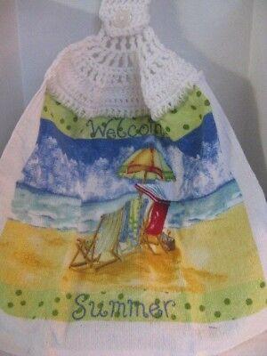 "Crochet Kitchen Towel ""Beach Theme"" ~ **Gift Idea"