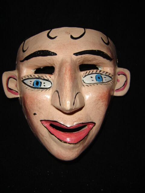 040 FACE DANCE MEXICAN WOODEN MASK mascara danza artesania mexicana folk art