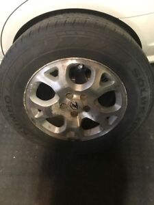 MDX rims with tires 5x114, 235/65/17