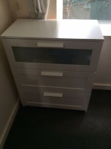 White chest of drawers St Kilda East Glen Eira Area Preview