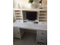 ikea hemnes white wood stain desk .....selling cheap ......open to offers in very good condition