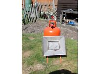 Calor Gas Propane heater and bottle