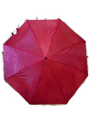 "New Red Umbrella Compact Rain Portable Emergency  42"" arc,  Limited"