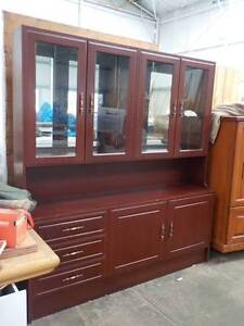 Wood and Glass Display Cabinet/Buffet O'Connor Fremantle Area Preview