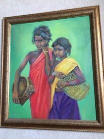 Original painting of two girls