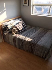 "Double Bed (Frame + Mattress) - 56"" x 78"" - Ikea - $100 OBO"