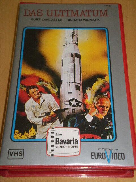 VHS-Rarität: DAS ULTIMATUM / BAVARIA  no Glasbox - Topzustand - Burt Lancaster