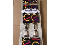 "2 pairs Mens Braces - One Size 42"" - Fully adjustable"
