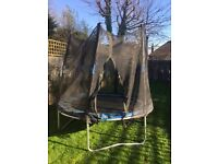 A much loved trampoline in need of a little TLC free to a good home