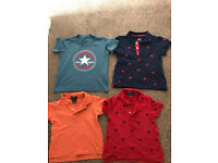 Boys Designer Bundle (2 x Ralph Lauren Polo, 1 Little Me, 1 Converse)