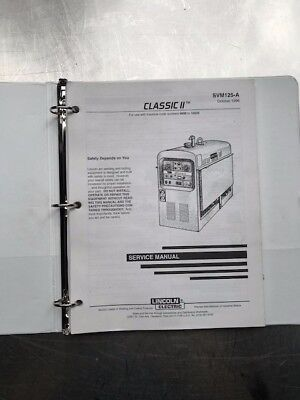 Lincoln Electric Classic Ii Service Manual Svm125a