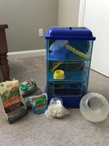 Hamster house, food etc