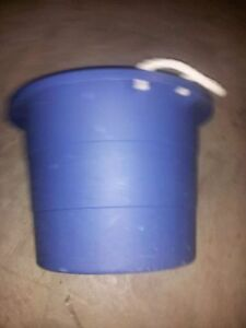STORAGE TOTE BLUE TOTE KEG BUCKET BLUE TOY BUCKET