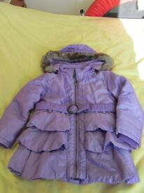 Girl's purple coat