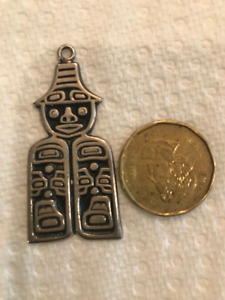 Northwest Coast Sterling Silver Totem Pendant - $110