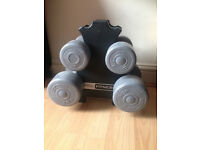 Pro Fitness Weights (2x2.3kg, 2x4.5kg, weight holder)