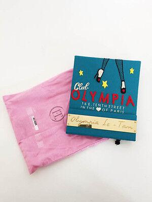 """BNWT OLYMPIA LE-TAN """"CLUB OLYMPIA"""" MATCHBOOK CLUTCH BLUE"""
