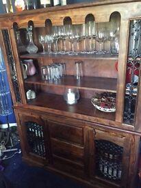 Solid Oak Drinks Cabinet