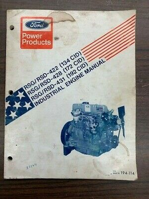 Ford 134 172 192 Gas And Diesel Engines Service And Repair Manual 194-114