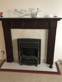 Fire surround and electric fire see picture below