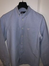 Fred Perry Men's Long-Sleeve Shirts x2. Size Small. Cost £65/£70, accept £12 each ono