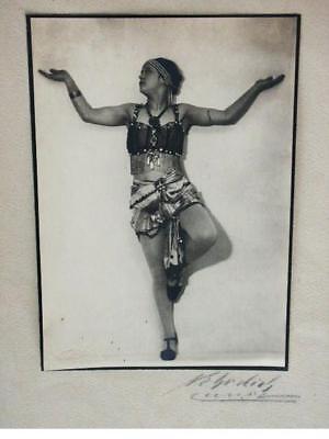 MAX NEHRDICH TANZ FOTO ART DECO DANCER PHOTO SIGNED !