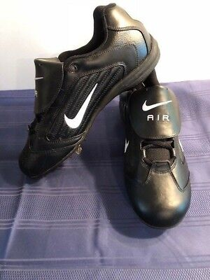 Nike Air Slider (NEW!!  Nike 304804 Air Slider Baseball Black Cleats Shoes Men's - Size 10.5 )