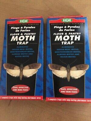 BioCare Flour and Pantry Moth Traps 2 pkgs of 2 traps Biocare Moth Trap