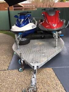 2 Jet Skis and Dual Trailer Combination Bethania Logan Area Preview