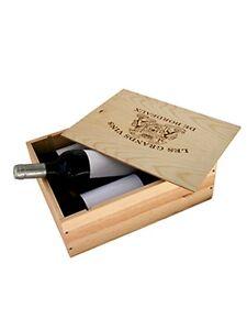 caisse bois vins 3 bouteilles avec couvercle glissi re ebay. Black Bedroom Furniture Sets. Home Design Ideas