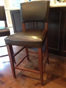"""3 - 24"""" high faux leather bar stools"""